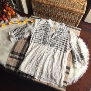 Twentyone Embroidered Woven Blouse Sz S